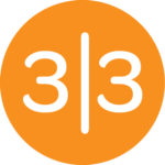33 Sticks logo- Orange Circle with 3|3